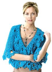 I LOVE THIS!!  Full of frills, this lacy sweater is all girl! This free crochet pattern is made with medium weight yarn and a size I and a size G crochet hook. Make something fun!
