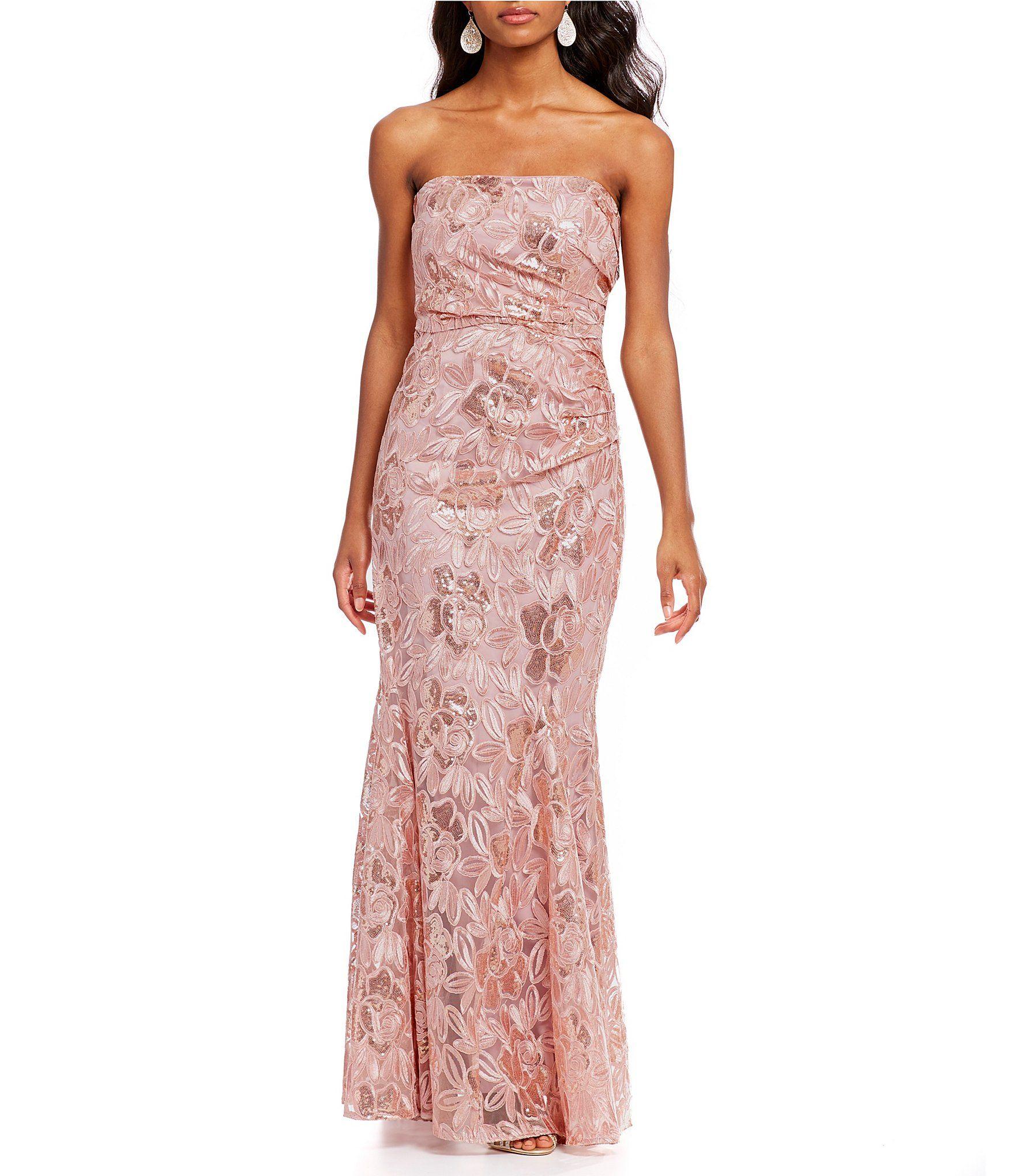 Belle Badgley Mischka Sequin Bustier Heaven Gown | Badgley mischka ...