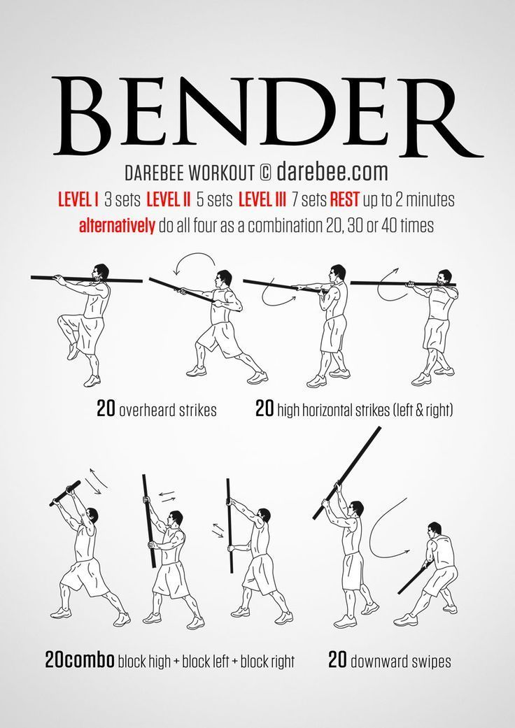 Bender workout superhero workout fight training