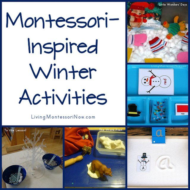 Here are some Montessori-inspired winter activities related to snow, ice, snowmen, cold weather, and/or animals in winter.