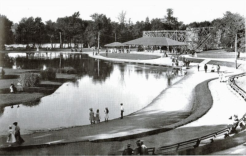 Playland Park South Bend In 1890s 1961 1890s 1961 Had A Roller Coaster The Jack Rabbit A 100xx165 Ft Swimming