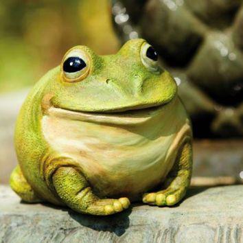 Evergreen Enterprises Frog Portly Garden Statue And Key Hider