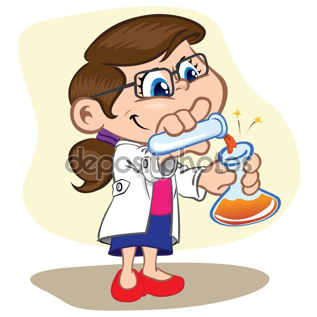 Ilustracin que representa a un nio en un laboratorio haciendo