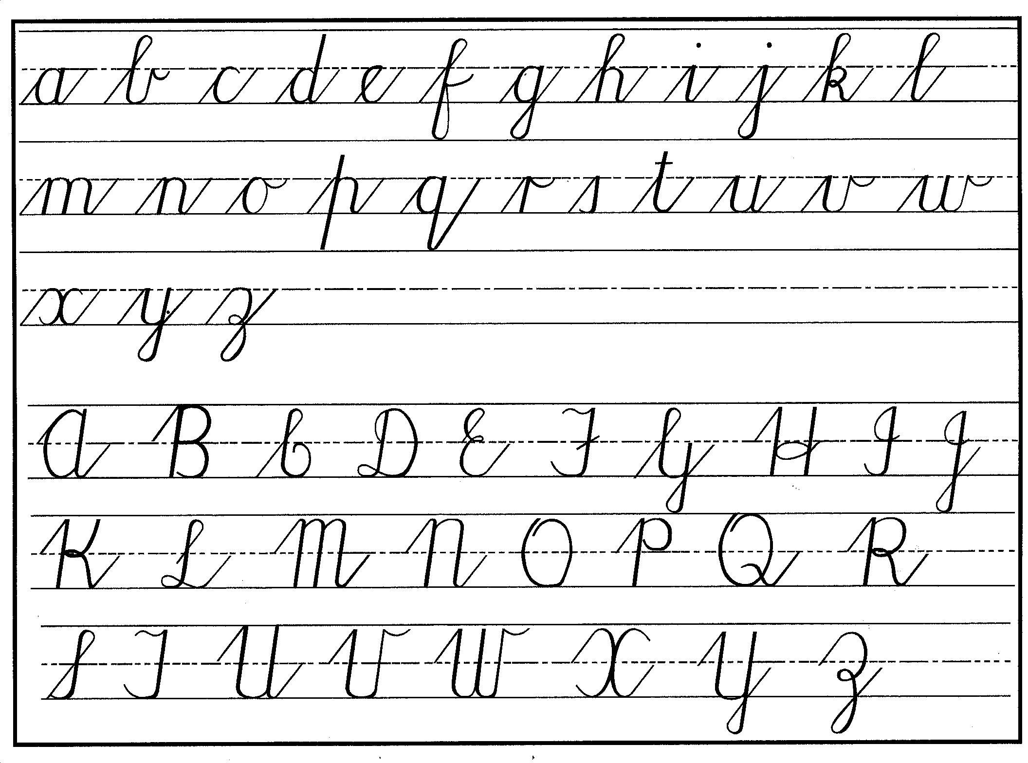 Worksheets Abc Cursive Writing cursive handwriting step by for beginners charts apparently writing and reading of is foreign to the younger generation