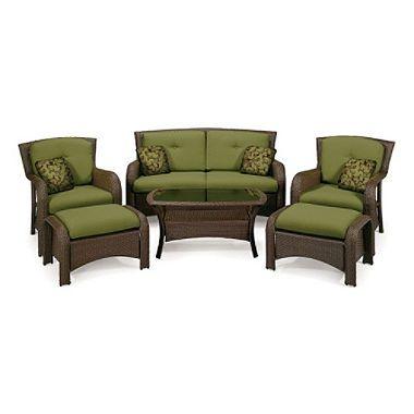 La Z Boy Outdoor Griffin Deep Seating Outdoor Patio Furniture Set 6 Pc Sam S Club Patio Furniture Outdoor Patio Furniture Sets Outdoor Lounge Set