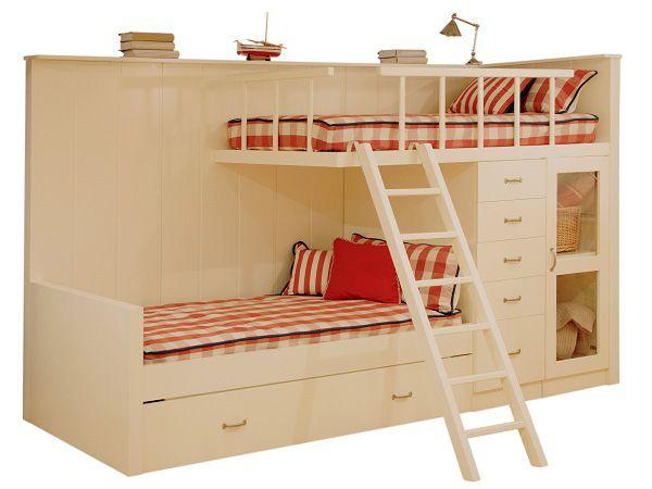 Literas en los dormitorios infantiles vtv nos muestra for Literas de madera para ninos