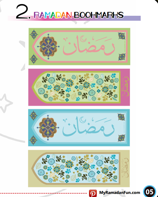 Ramadan Bookmarks Ramadan Crafts Ramadan Kids Ramadan Decorations
