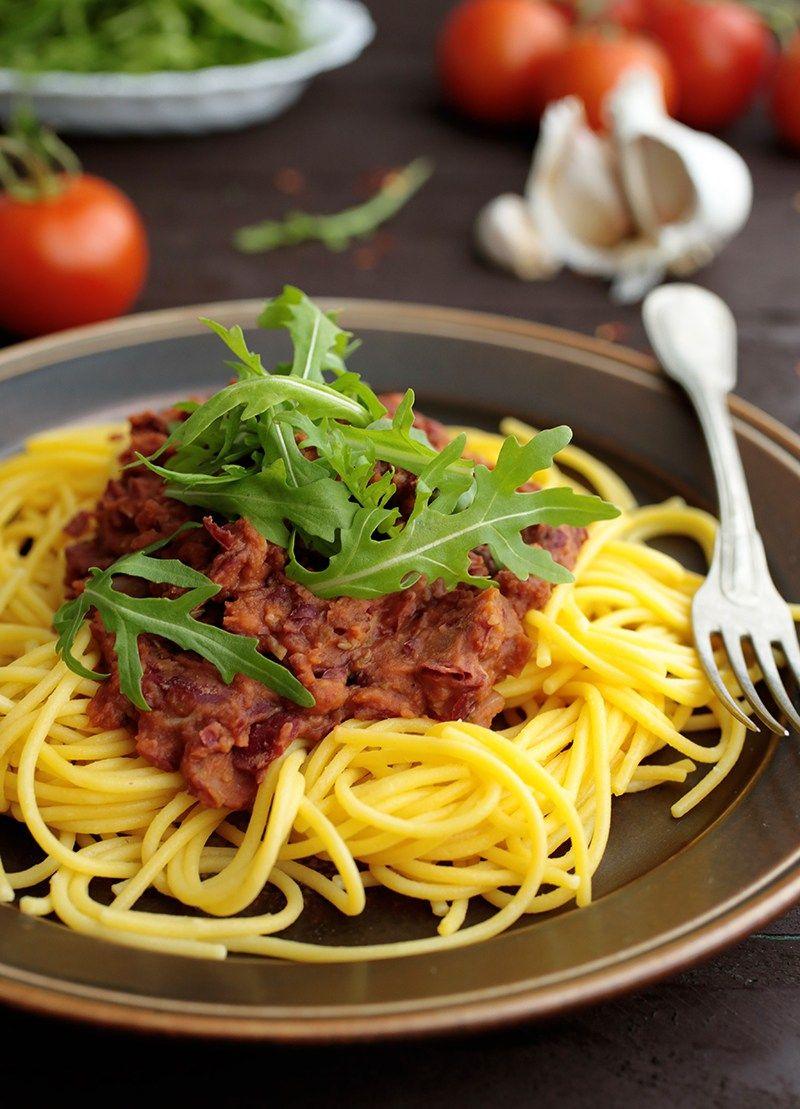 Pasta With Kidney Bean Sauce