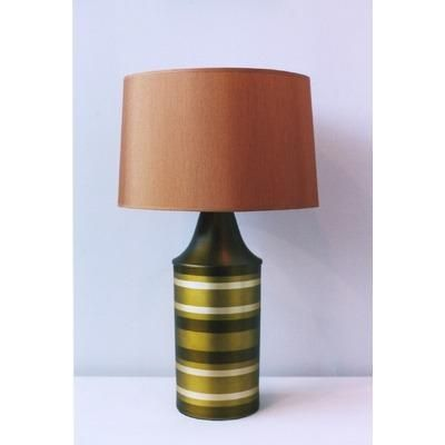 (CLICK IMAGE TWICE FOR UPDATED PRICING AND INFO) #home #homeimprovement #homedecor #lighting #lamps #lights #lightandfixture #tablelamps   see more table lamps at http://www.zbrands.com/Lamps-C40.aspx - Babette Holland Lamps - Striped Apollo Table Lamp in Olive with Gold Shade