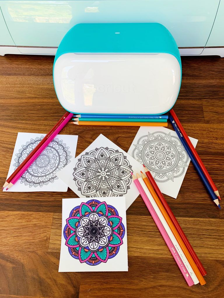 How To Make Easy Mandala Coloring Pages With Cricut Mommy Week Mandala Coloring Pages Mandala Coloring Coloring Pages