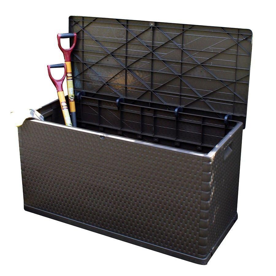 Garden Storage Box Rattan Indoor Chest Yard Patio Large Shed W Lid 420l Gardenstoragebox