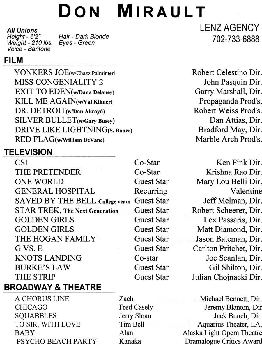 Theatre Resume Template Acting Resume Templates And Tips Auditions Sample Template  Home