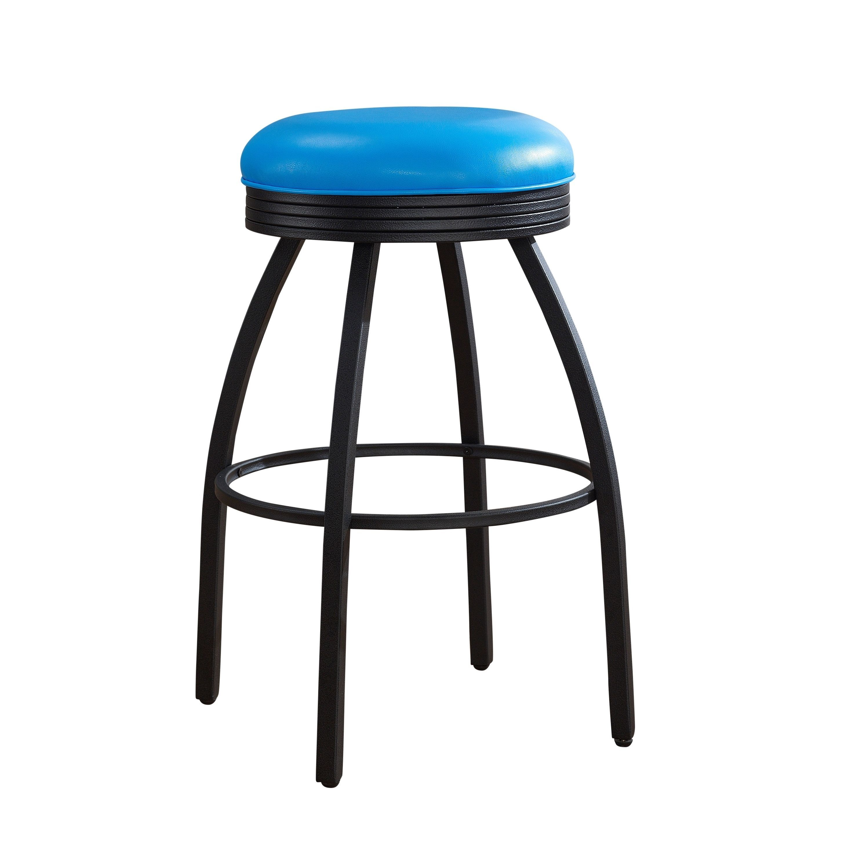 American Sadie 26-inch Blue Metal Counter Height Stool (Sadie Counter Height Stool in Blue) (Bonded Leather)