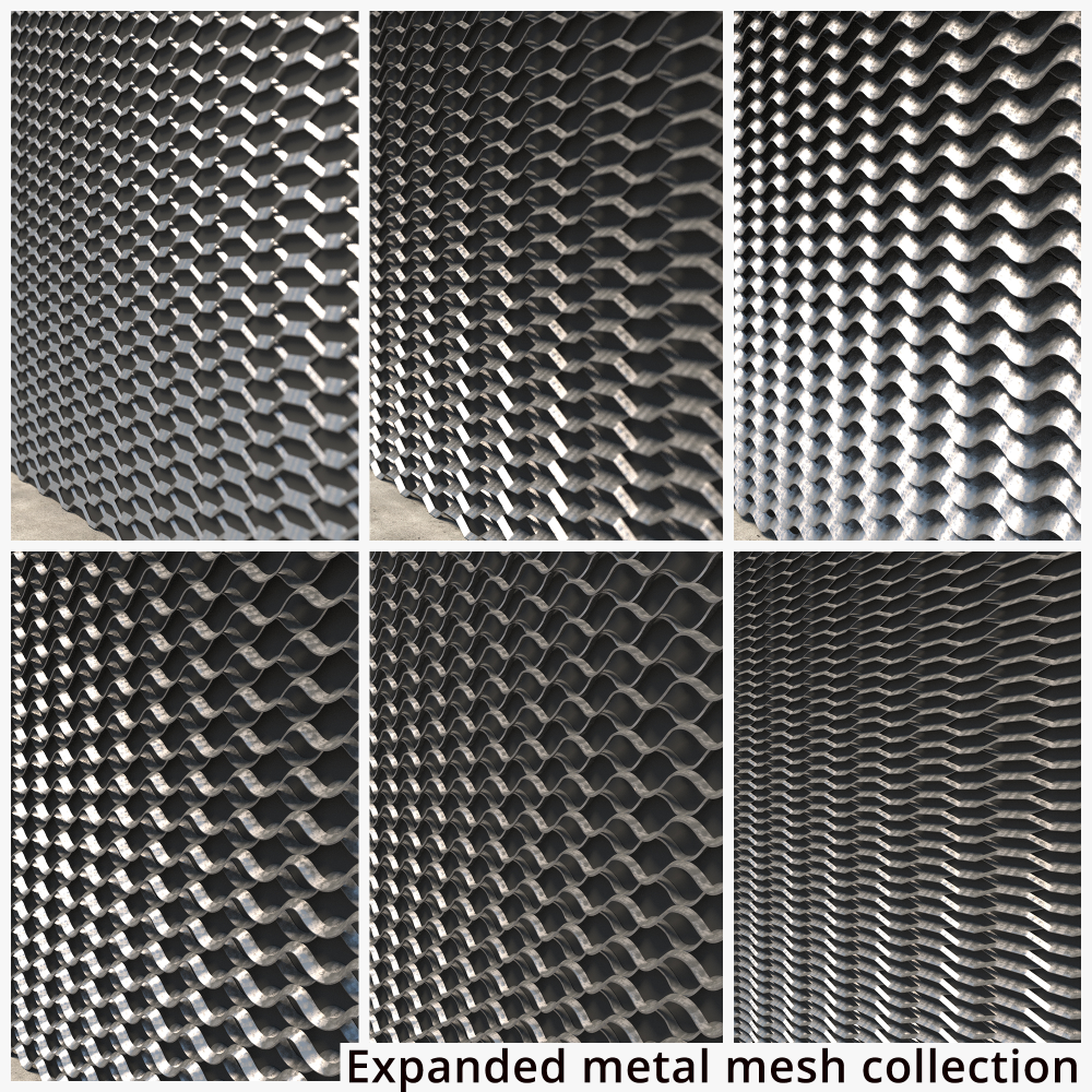 Expanded Metal Mesh 3d Model Turbosquid 1238067 Metal Mesh Expanded Metal Expanded Metal Mesh