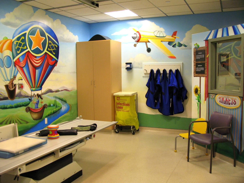 air baloon kids wall mural design ideas | colorful walls | Pinterest ...