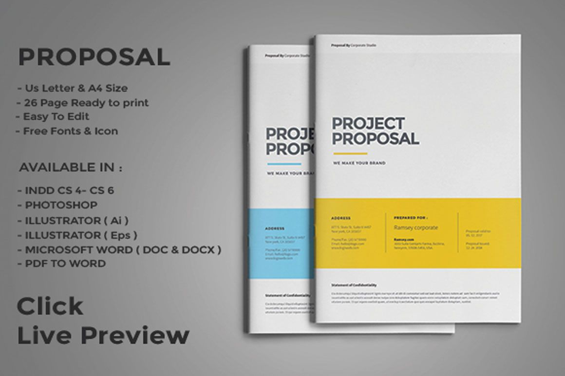 Web Design Proposal Template Psd Eps Indesign And Ai Format