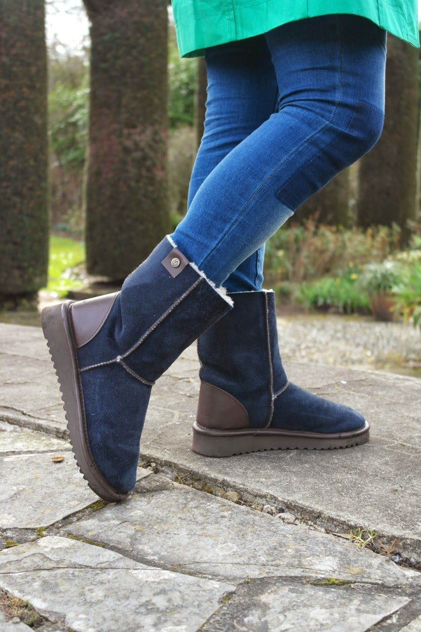 f16c60ca360 St Patrick's Day in Celtic & Co Sheepskin Boots #realmomstyle ...