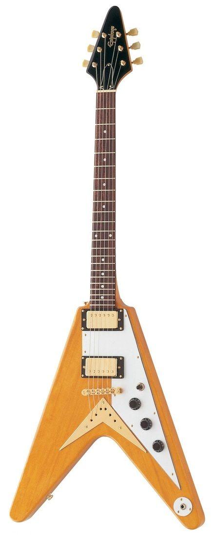 epiphone korina flying v antique natural electric guitar 1958 electric guitar vintage. Black Bedroom Furniture Sets. Home Design Ideas