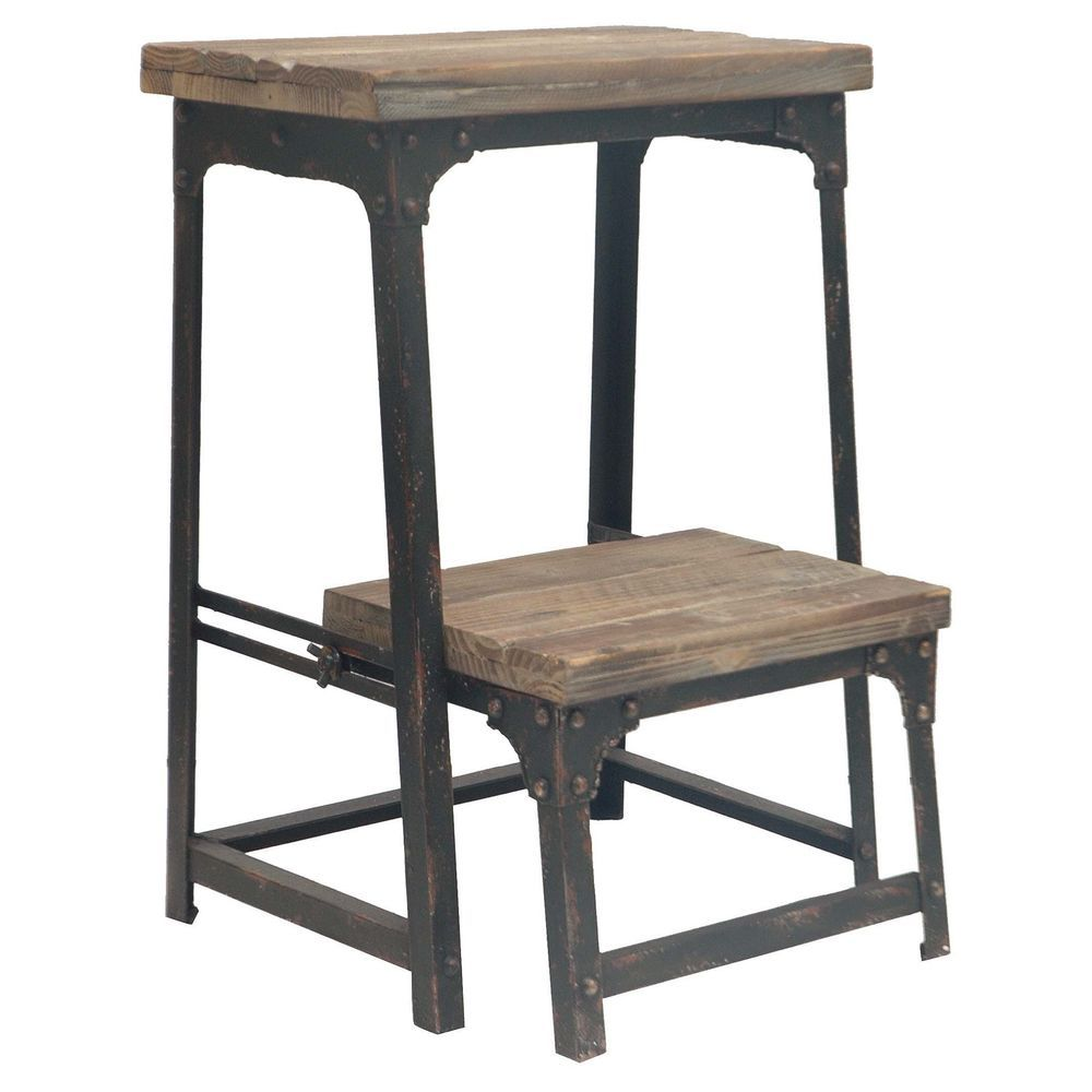 Crestview Collection Industria Step Stool -- for kitchen (short people)  sc 1 st  Pinterest & Crestview Collection Industrial Collection 2 Step Ladder New ... islam-shia.org