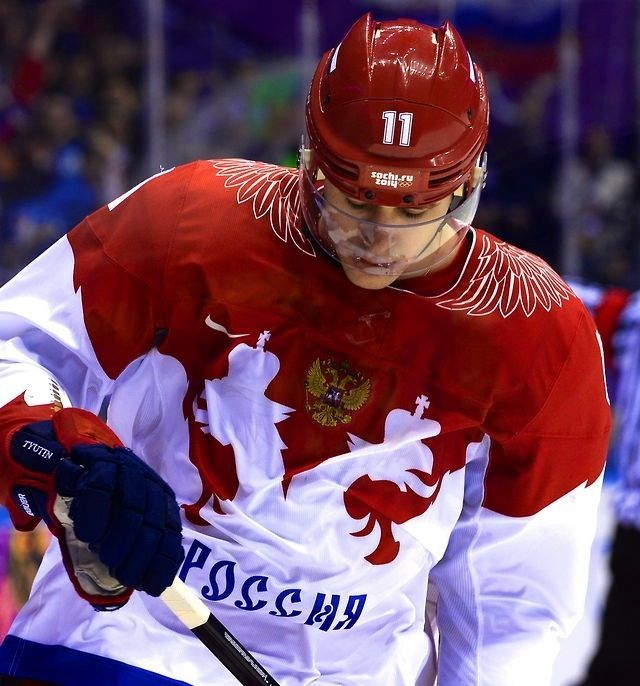 Evgeni Malkin, Sochi 2014- the Russians win for the best jerseys/ They are going to find that coach that didn't want to work with the NHLers in a ditch somewhere.