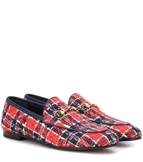 2c99416a75 Jordaan tweed loafers | Gucci | style in 2019 | Gucci jordaan, Gucci ...