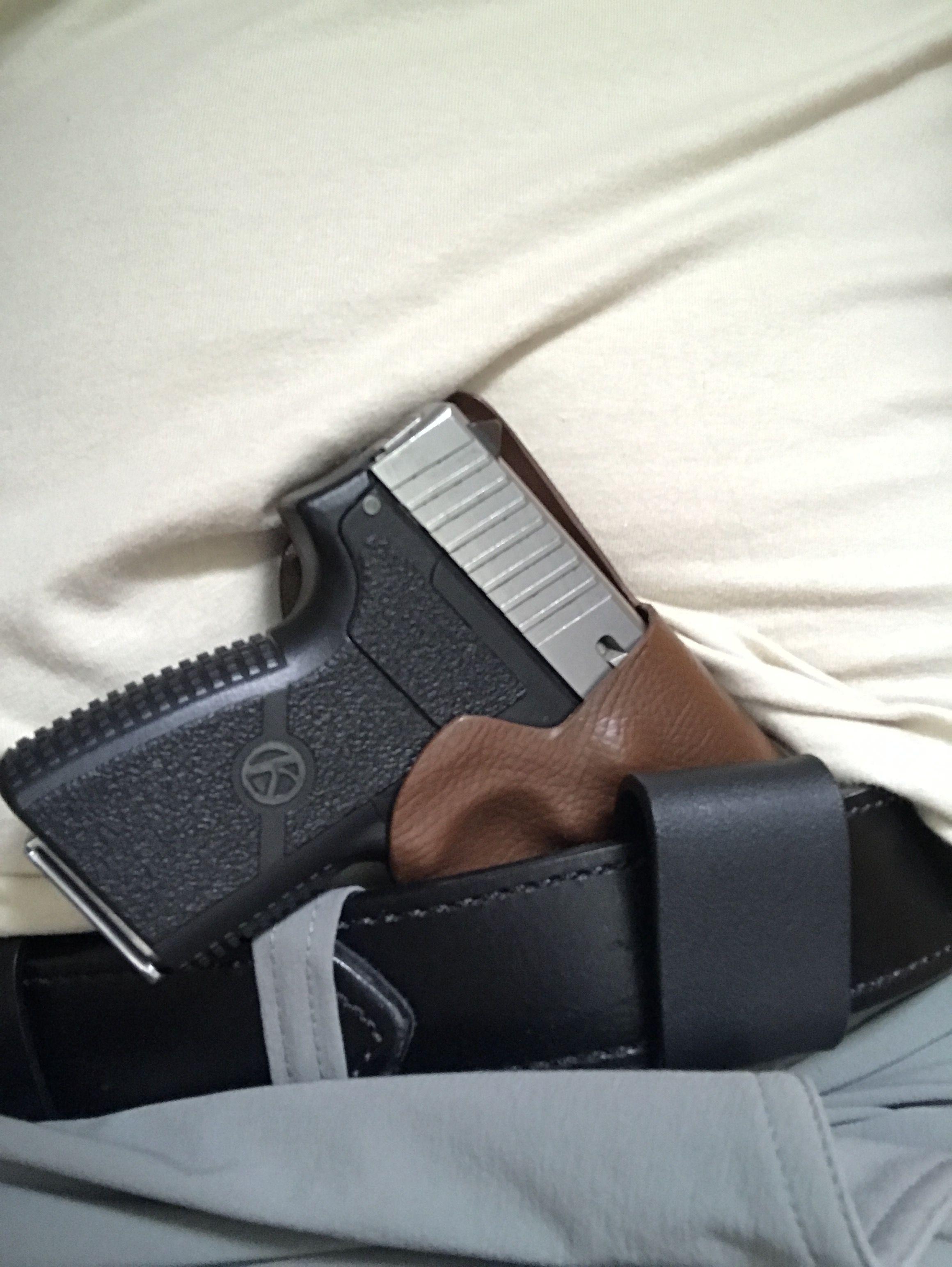 Cross Draw Kahr PM9 | GARP holsters | Hand guns, Guns, Drawings