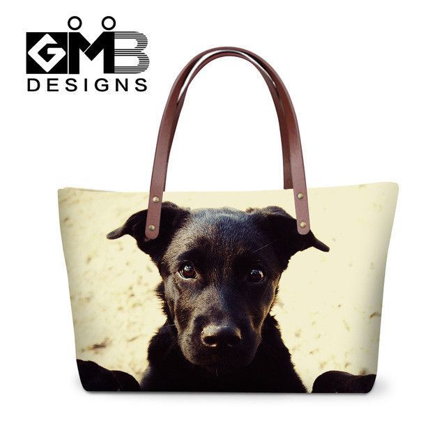 32d48885f706 Dispalang 3D personalized cat printing women handbags large capacity lady  shopping tote bags girls customized shoulder