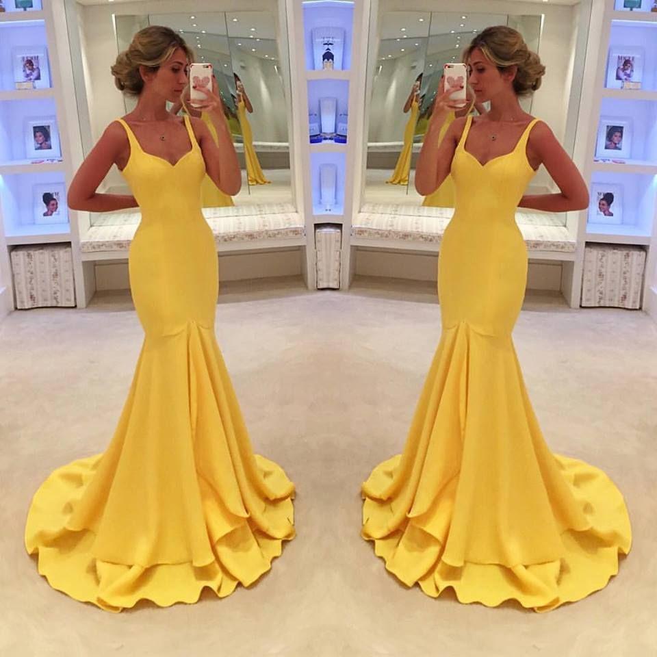 Prom dresssexy prom dress yellow prom dressesvintage yellow