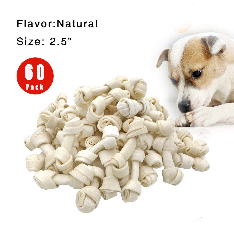 Freedomdesign Rawhide Knot Bones Dog Bulk Treats Chews Natural