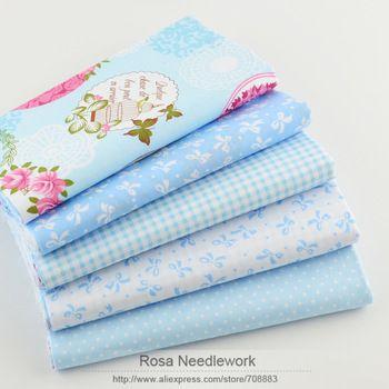 Самая низкая 40 см * 50 см 5 шт. синий хлопок ткань жир квартал лоскутное лоскутная ткани дети детское постельное белье текстиль для шитья тильда куклы