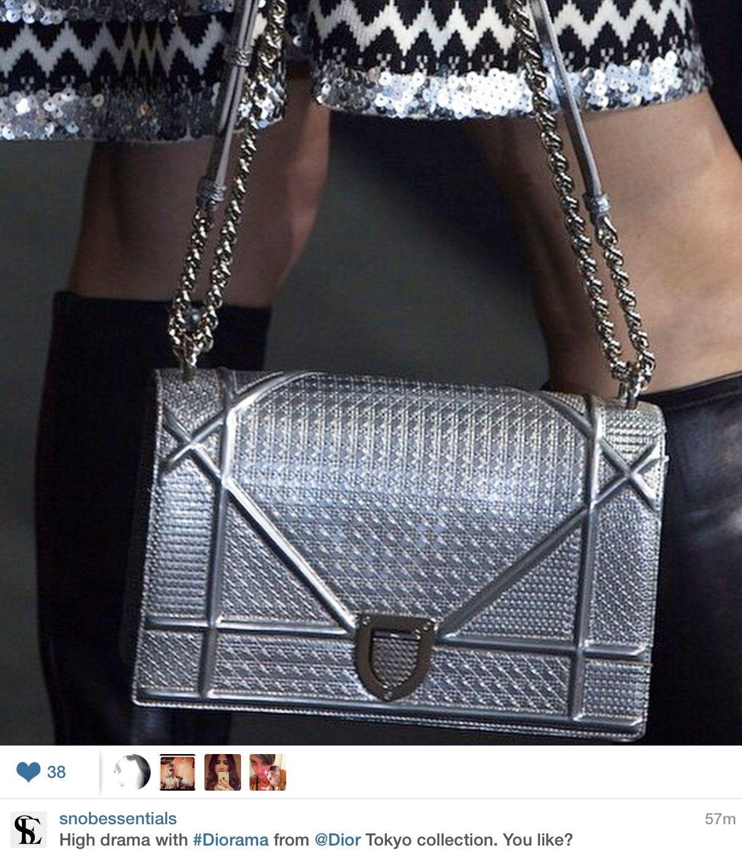 3ae43ef98 Dior Diorama silver bag. | Fashion Picks | Dior diorama bag, Bags ...