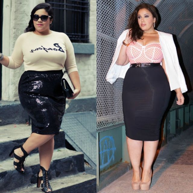 d2aabfa94e 55 Amazing Outfits With Black Pencil Skirts | Plus Size Outfit Ideas ...