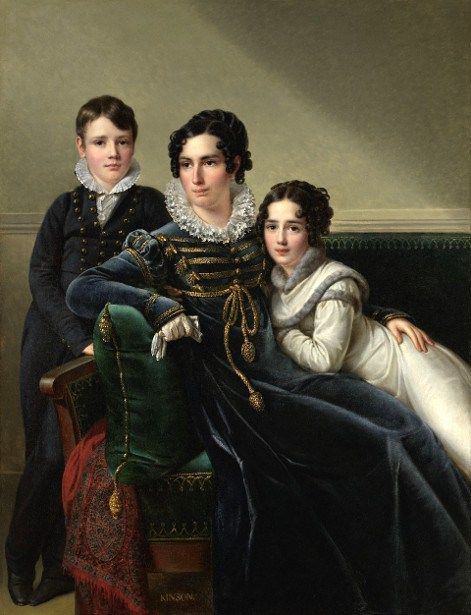 Young Aristocrat With Her Two Children