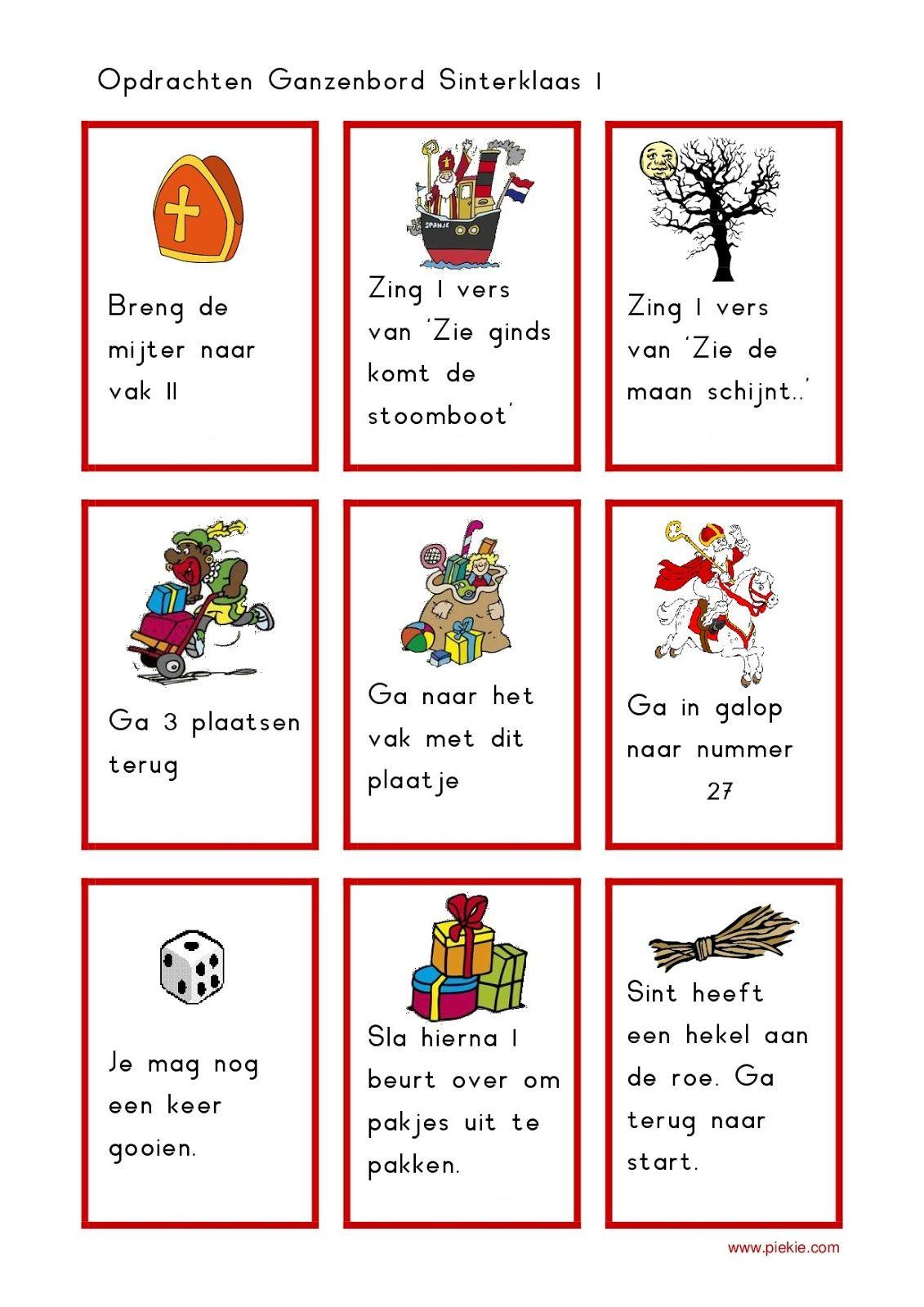 Onderwijs en zo voort ........: 1819. Sinterklaas spelletjes : Sinterklaas Ganzenbord #themasinterklaas