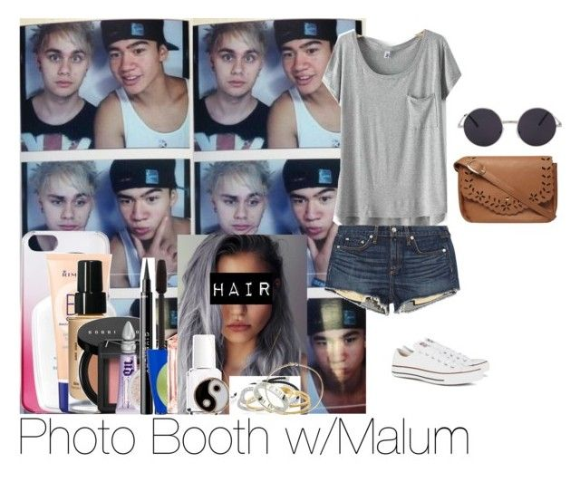 """Photo Booth with Michael and Calum"" by itsmaddiewoolsey ❤ liked on Polyvore featuring Mikey, rag & bone/JEAN, Converse, Dorothy Perkins, J.Crew, Rimmel, Bobbi Brown Cosmetics, NARS Cosmetics, Urban Decay and Moyana Corigan"