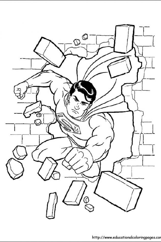 Superman Coloring Pages Free For Kids Superman Coloring Pages