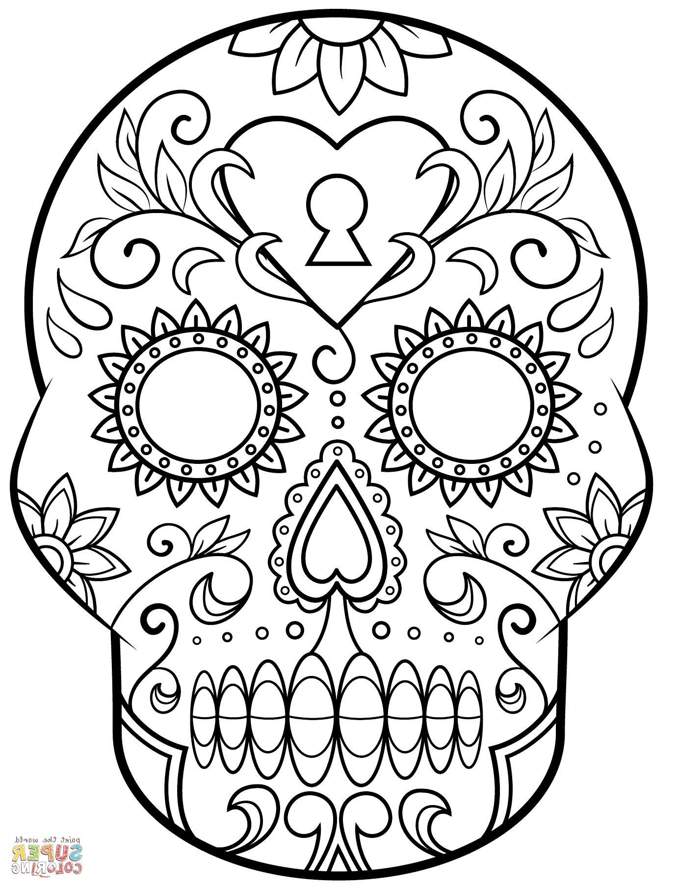 - Dia De Los Muertos Coloring Sheets N2GU Day Of The Dead Sugar