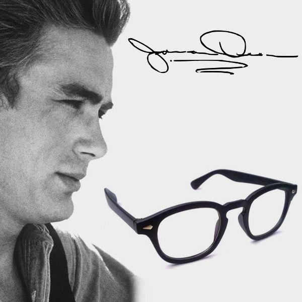 e6cad0f151 James dean glasses horn-rim wayfarer avatar 44 moscot vintage retro ...