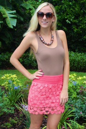 #Sophie&Trey              #Skirt                    #Coral #Crochet #Skirt    Coral Crochet Skirt                                 http://www.seapai.com/product.aspx?PID=1020333