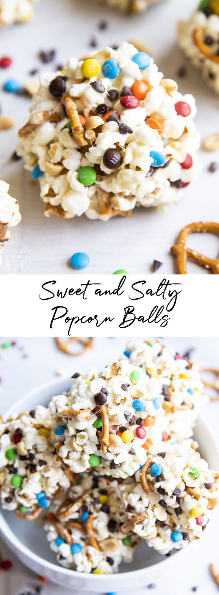 Sweet and Salty Popcorn Balls – Like Mother, Like Daughter