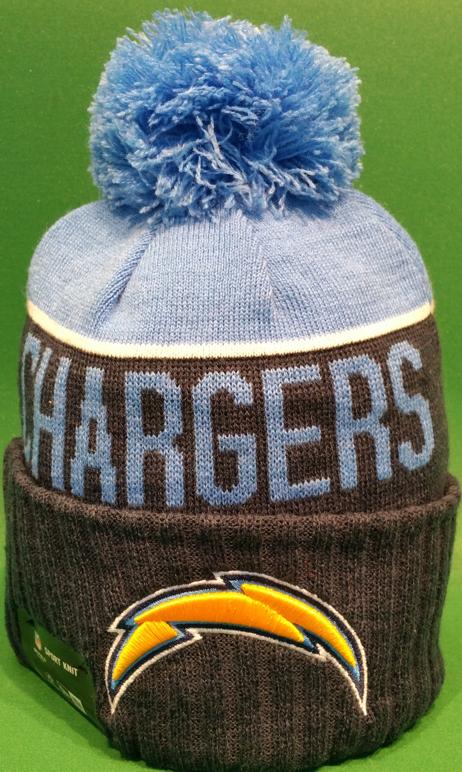 San Diego Chargers Sideline Knit Pom Toque San diego