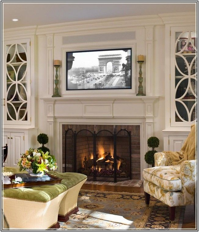 Traditional Living Room Ideas With Fireplace And Tv Wall Decor