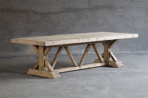 Reclaimed Wood Trestle Table | Villa Vici Contemporary Furniture Store And  Interior Design Resource New Orleans