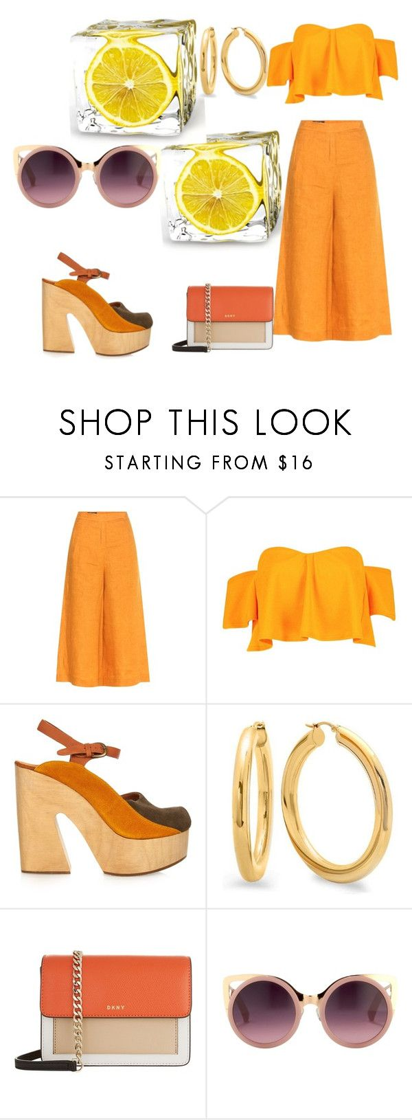 """""""love summer"""" by sofiacalo ❤ liked on Polyvore featuring Loro Piana, Boohoo, Rachel Comey, DKNY and Erdem"""
