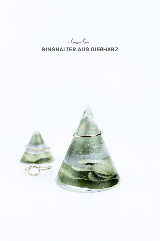 Geschenkidee: DIY Ringhalter aus Gießharz selber machen   Diy ...