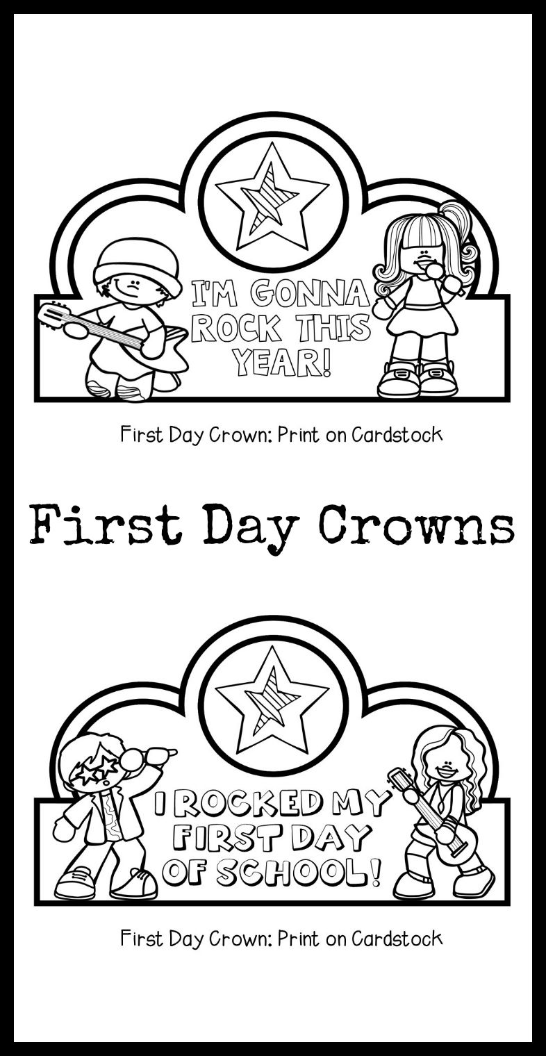 First Day Crowns A Great First Day Of School Activity For Little Learners First Day Of School First Day Of School Activities Preschool First Day [ 1520 x 786 Pixel ]