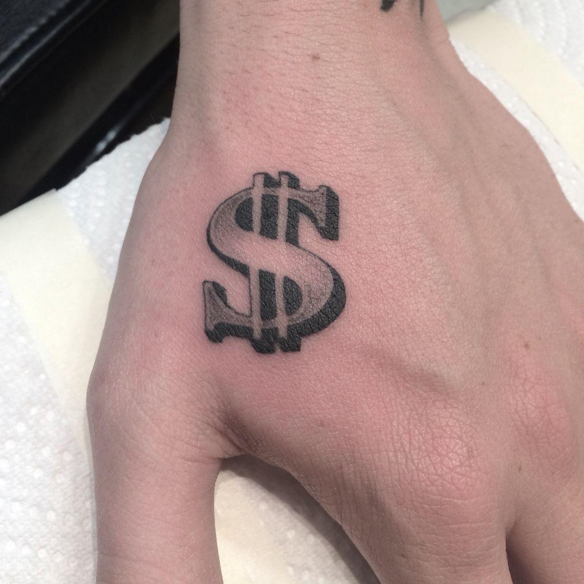 Royal Peacock Tattoo Parlor Hand Tattoos For Guys Money Tattoo Money Sign Tattoo