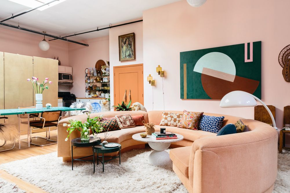These Two Sisters Live Together In A Color Explosion A Cup Of Jo Living Room Designs Living Room Decor Living Decor