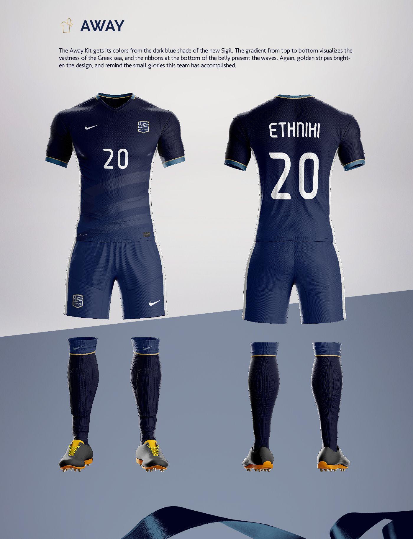 Rebranding Greece on Behance Football Uniforms 5d1418109deab