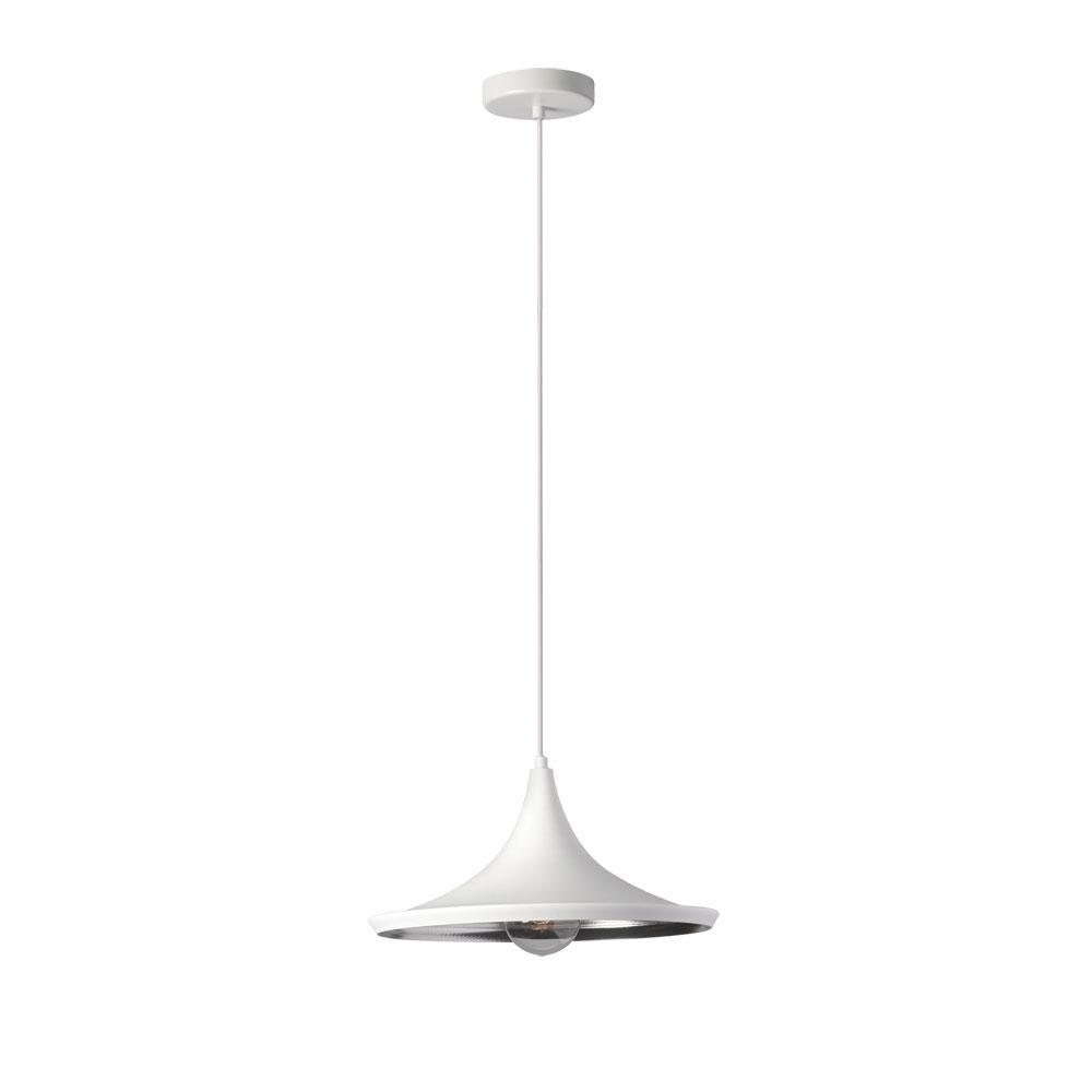 Filament Design 1 Light Matte White Pendant Scandinavian